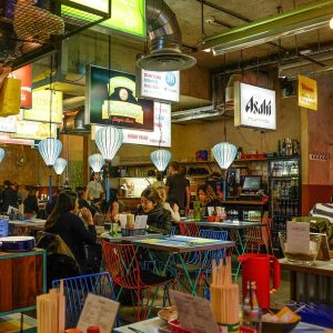 Guests having dinner at East Street Restaurant in London